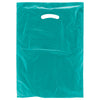12 x 3 x 18 Teal Hi-Density Gusseted Merchandise Bags (.70 mil thickness) 500/Case