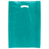 13 x 3 x 21 Teal Hi-Density Gusseted Merchandise Bags (.70 mil thickness) 500/Case