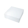 14 x 14 x 7 1/2 White Gloss Gift Box 50/Case