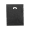 15 x 18 x 4 High Gloss Black Plastic Bags w/ Die Cut Handle 500/Case