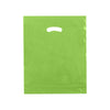 15 x 18 x 4 High Gloss Citrus Green Plastic Bags w/ Die Cut Handle 500/Case