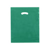 15 x 18 x 4 High Gloss Hunter Green Plastic Bags w/ Die Cut Handle 500/Case