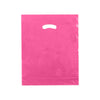15 x 18 x 4 High Gloss Hot Pink Plastic Bags w/ Die Cut Handle 500/Case