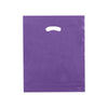 15 x 18 x 4 High Gloss Purple Plastic Bags w/ Die Cut Handle 500/Case