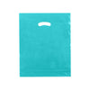 15 x 18 x 4 High Gloss Teal Plastic Bags w/ Die Cut Handle 500/Case