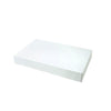 15 x 9 1/2 x 2 White Gloss Apparel Box 100/Case