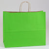 16 x 6 x 13 Apple Green Shopping Bags w/ Handles 250/Case