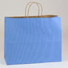 16 x 6 x 13 French Country Blue Shopping Bags w/ Handles 250/Case