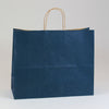 16 x 6 x 13 Navy Blue Shopping Bags w/ Handles 250/Case