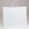 16 x 6 x 13 White Shopping Bags w/ Handles 250/Case