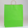 16 x 6 x 19 1/4 Apple Green Shopping Bags w/ Handles 200/Case