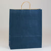 16 x 6 x 19 1/4 Navy Blue Shopping Bags w/ Handles 200/Case