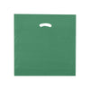 18 x 18 x 4 High Gloss Hunter Green Plastic Bags w/ Die Cut Handle 500/Case