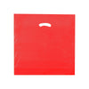 18 x 18 x 4 High Gloss Red Plastic Bags w/ Die Cut Handle 500/Case