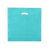 18 x 18 x 4 High Gloss Teal Plastic Bags w/ Die Cut Handle 500/Case