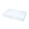 19 x 12 x 3 White Gloss Apparel Box 50/Case