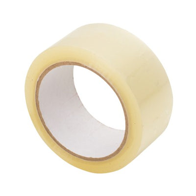"2"" x 55 Yard Clear (1.7 mil) Packing Tape - 6/Case"