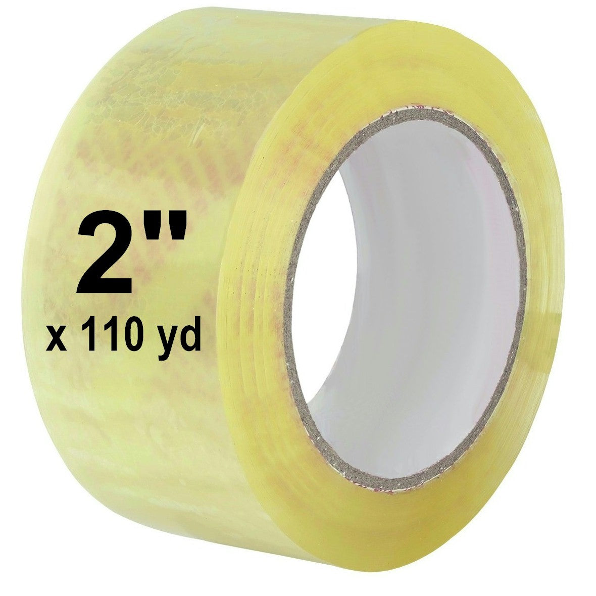 """Free 2/"""" Tape Dispenser 2 Inch x 110 Yards Clear Packing Tapes 2.5 Mil 6 Rolls"""