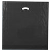 20 x 20 x 5 High Gloss Black Plastic Bags w/ Die Cut Handle 500/Case