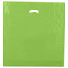 20 x 20 x 5 High Gloss Citrus Green Plastic Bags w/ Die Cut Handle 500/Case