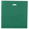20 x 20 x 5 High Gloss Hunter Green Plastic Bags w/ Die Cut Handle 500/Case