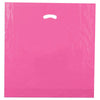 20 x 20 x 5 High Gloss Hot Pink Plastic Bags w/ Die Cut Handle 500/Case
