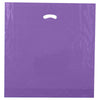 20 x 20 x 5 High Gloss Purple Plastic Bags w/ Die Cut Handle 500/Case