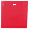 20 x 20 x 5 High Gloss Red Plastic Bags w/ Die Cut Handle 500/Case