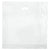 20 x 20 x 5 High Gloss White Plastic Bags w/ Die Cut Handle 500/Case
