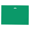 24 x 24 x 5 High Gloss Hunter Green Plastic Bags w/ Die Cut Handle 500/Case
