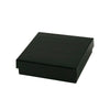 3 1/2 x 3 1/2 x 1 Black Gloss Jewelry Box 100/Case