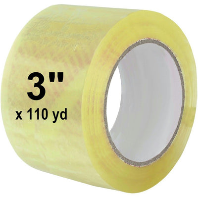 "3"" x 110 Yard Clear (2 mil) Packing Tape 24/Case"