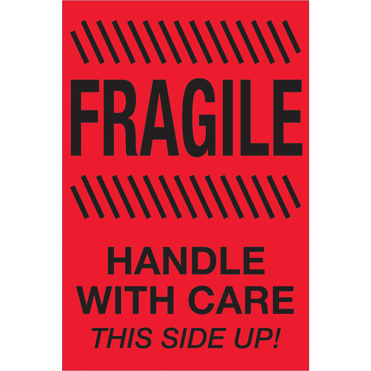 """1 Roll 4/""""x6/"""" Fragile Sticker 500//Roll Handle with Care Do Not Drop Warning Label"""