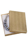 5 1/4 x 3 3/4 x 7/8 Gold Embossed Jewelry Box 100/Case