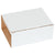 5 5/8 x 5 x 2 9/16 White Corrugated Boxes (fits 6 CD Jewel Cases) 50/Case