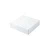 6 1/2 x 6 1/2 x 1 5/8 White Gloss Gift Box 100/Case