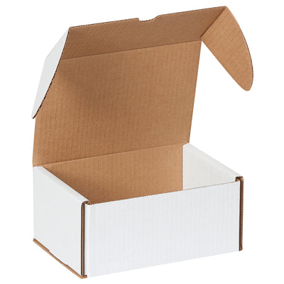 DVD White Corrugated Shipping Box 7 5/8 x 5 7/16 x 3 9/16 (holds 6 DVD Cases) 50/Bundle