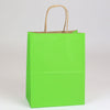 8 x 4 3/4 x 10 1/2 Apple Green Shopping Bags w/ Handles 250/Case