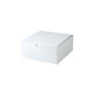 8 x 8 x 3 1/2 White Gloss Gift Box 100/Case