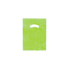 9 x 12 High Gloss Citrus Green Plastic Bags w/ Die Cut Handle 1000/Case