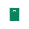 9 x 12 High Gloss Hunter Green Plastic Bags w/ Die Cut Handle 1000/Case