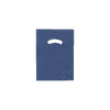9 x 12 High Gloss Navy Plastic Bags w/ Die Cut Handle 1000/Case