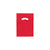 9 x 12 High Gloss Red Plastic Bags w/ Die Cut Handle 1000/Case