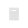 9 x 12 High Gloss White Plastic Bags w/ Die Cut Handle 1000/Case