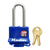 "MasterLock ThermoLock 1-9/16"" (with 2"" Shackle) Blue Thermoplastic Cover, 4/Case"