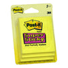"3M Scotch Super-Sticky Yellow Post-it Notes 3""x3"", 45 sheets/pad, 3 pads/card, 6 cards/box"