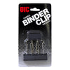 "OfficeMates 1-1/4"" Medium Binder Clips Carded - 3 clips/card, 10 cards/box"
