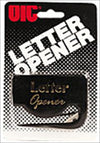 OfficeMate LetterOpener, Black BlacCarded, 12/box