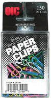 OfficeMate Small Paper Clips Assorted Vinyl Color - 150/pack, 6/box