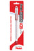 Pentel RSVP Ballpoint Pen, Fine, Red, Carded 6/Box